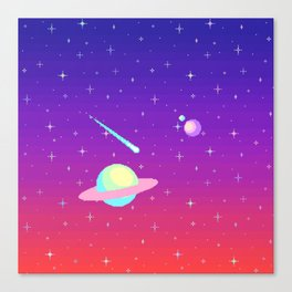 Pixelated Galaxy Canvas Print