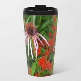 Coneflowers and Butterfly weed 7605 Travel Mug