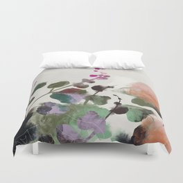 floral abstract summer autumn Duvet Cover