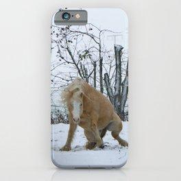 Snow pony iPhone Case