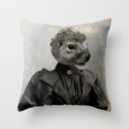 Miss Squirrel Throw Pillow