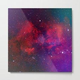 Purple & Red Watercolor Space Pattern Metal Print