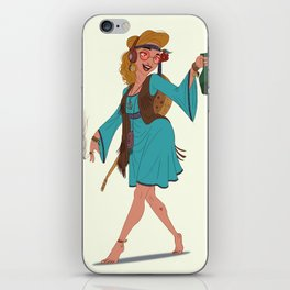 Hippie Girl iPhone Skin