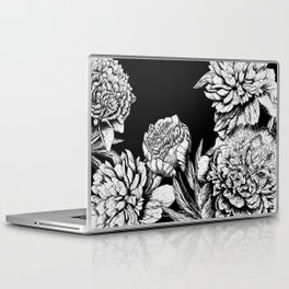 FLOWERS IN BLACK AND WHITE Laptop & iPad Skin