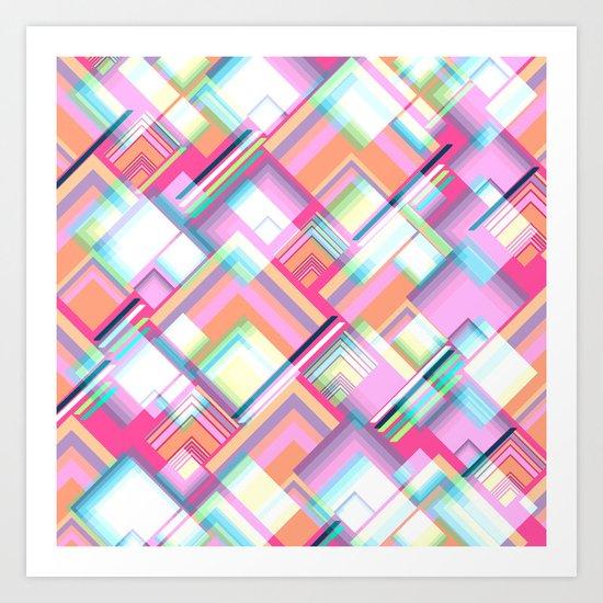 Spectacular geometry Art Print