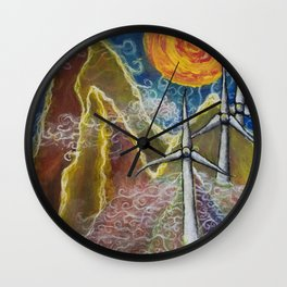 Windy Day in Tucker County Wall Clock