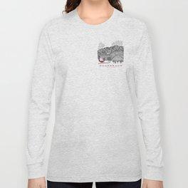 Sugarbush Vermont Serious Fun for Skiers- Zentangle Illustration Long Sleeve T-shirt
