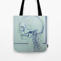 Skull Portrait Tote Bag
