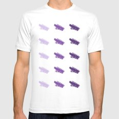 Monochrome Purple White MEDIUM Mens Fitted Tee