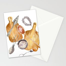 cookware print Stationery Cards