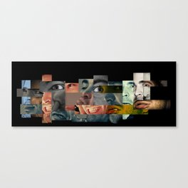 Many Faces Canvas Print