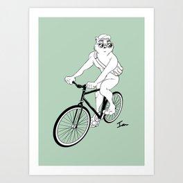 Owl Fixie Art Print