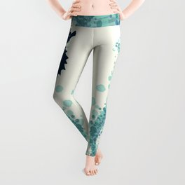 """Seahorse Silhouette"" ` digital illustration by Amber Marine, (Copyright 2015) Leggings"