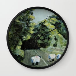 Connemara Sheep Wall Clock