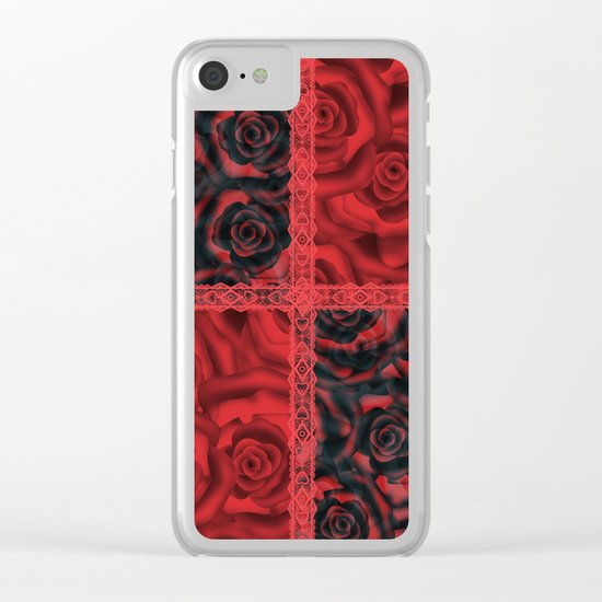Patchwork . Roses are red. Clear iPhone Case