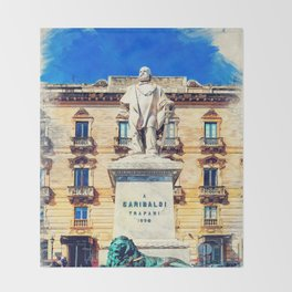 Trapani art 17 Sicily Throw Blanket