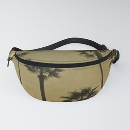 PALM TREES - TEXTURAL CALIFORNIA SUNSET Fanny Pack