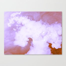 DREAMY PINK AND WHITE RAINBOW CLOUDS Canvas Print