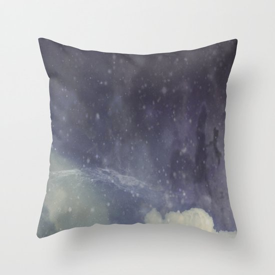 Flying Squid Throw Pillow