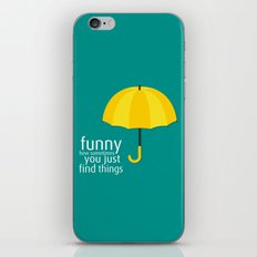 Yellow Umbrella iPhone & iPod Skin