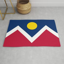 Denver, Colorado city flag Rug