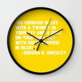 Go Forward in Life Wall Clock
