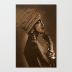 Afro Beauty Canvas Print