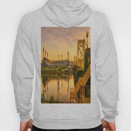 Pittsburgh Ballpark Riverview Sunrise Print Hoody