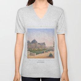 Les tuileries Paris France Unisex V-Neck