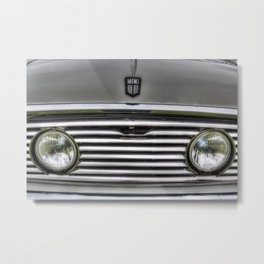The Mini Classic Car Metal Print