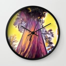 Mighty Redwood Wall Clock