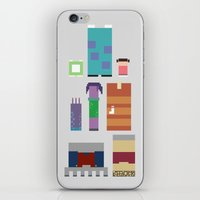 monsters inc iPhone & iPod Skins featuring Monsters Inc. by Raquel Segal