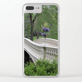 Bow Bridge Central Park New York Clear iPhone Case
