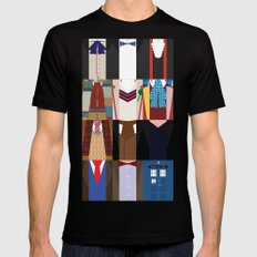The Doctors - Doctor Who & TARDIS 2X-LARGE Black Mens Fitted Tee