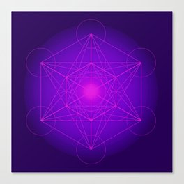Metatron | Cube | Secret Geometry | Platonic | Matrix | Protects children Canvas Print