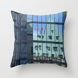 Maple leaf mirror Ottawa Throw Pillow