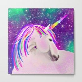 Celestial Unicorn Metal Print