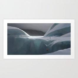 Ice climbing Art Print
