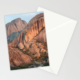 Sunset on Madagascar mountains Stationery Cards