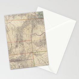 Vintage Map of Wyoming (1883) Stationery Cards