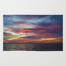 Fall sunset above Lake St. Clair, Canada Rug