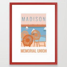Memorial Union Travel Poster Framed Art Print