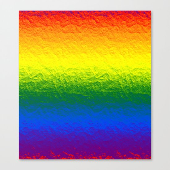 Rainbow Gradient Painted Pattern Canvas Print