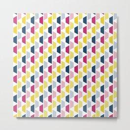 Pink, Blue & Yellow Trapezoids Metal Print