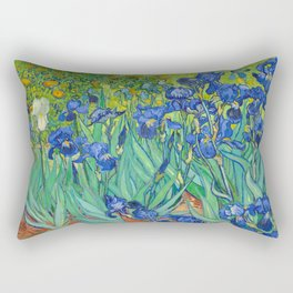 Vincent Van Gogh Irises Painting Rectangular Pillow