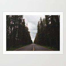 Through the Woods Art Print
