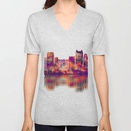 Orlando Florida Skyline Unisex V-Neck