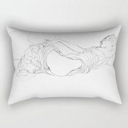 Reclining natural woman - Gustav Klimt Rectangular Pillow