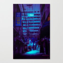 Night falls over Seoul Canvas Print