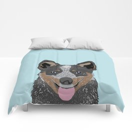 Kellan - Cattle Dog gifts for dog lovers and australian cattle dog gifts for dog person Comforters
